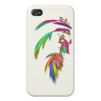 Fractal - Indian Chief iPhone 4 Case