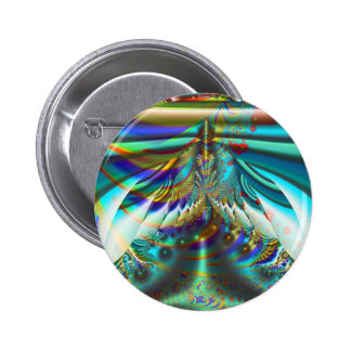 Fractal inner worlds 6 cm round badge