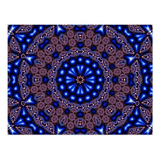 Fractal Kaleidoscope Art 670 Post Card