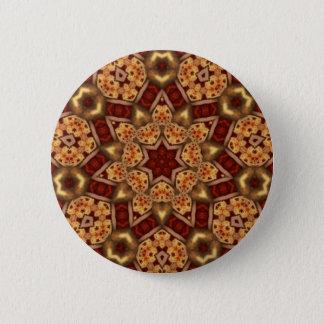 Fractal Kaleidoscope Art 756 6 Cm Round Badge