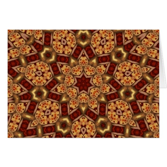 Fractal Kaleidoscope Art 756 Card