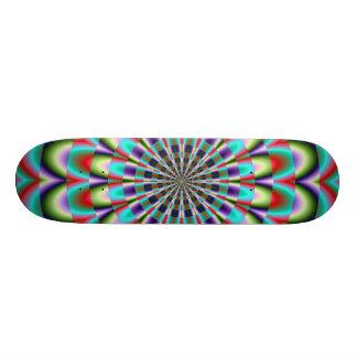 Fractal Kaleidoscope Design Skateboard