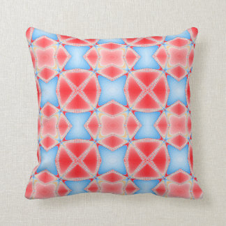 Fractal Kaleidoscope in Red & Blue #1 Cushion