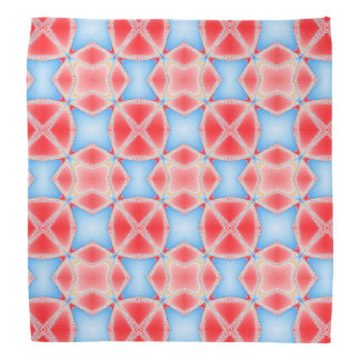 Fractal Kaleidoscope in Red & Blue Bandana