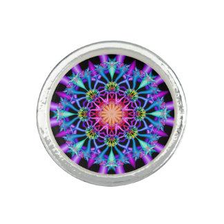 Fractal Kaleidoscope Rainbow Florets