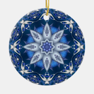 Fractal Kaleidoscope Winter Delight Ornament