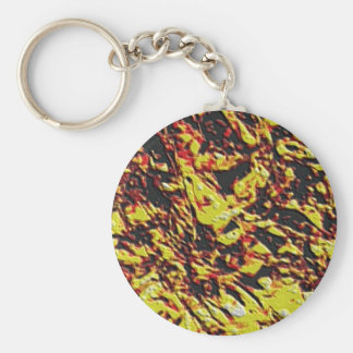 Fractal Lava Texture Basic Round Button Key Ring