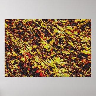 Fractal Lava Texture print