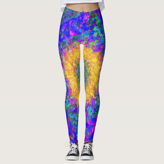 Fractal Leggings, Quilt Leggings
