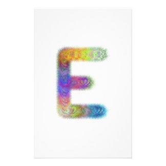 Fractal letter E monogram 14 Cm X 21.5 Cm Flyer