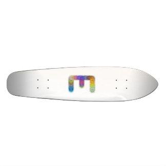 Fractal letter E monogram Custom Skate Board