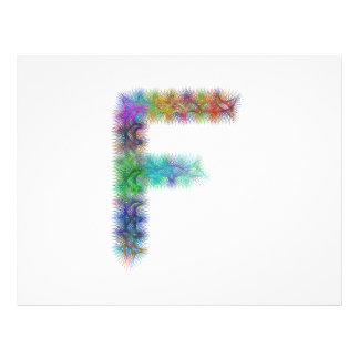 Fractal letter F monogram 21.5 Cm X 28 Cm Flyer