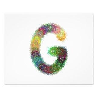 Fractal letter G monogram 11.5 Cm X 14 Cm Flyer