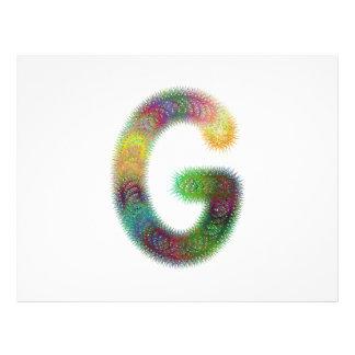 Fractal letter G monogram 21.5 Cm X 28 Cm Flyer