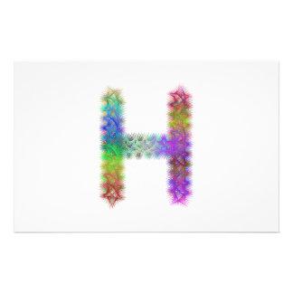 Fractal letter H monogram 14 Cm X 21.5 Cm Flyer