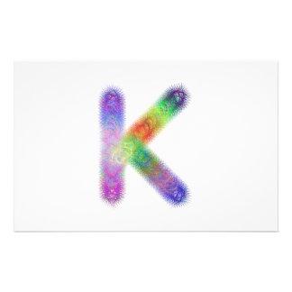Fractal letter K monogram 14 Cm X 21.5 Cm Flyer