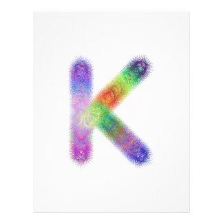 Fractal letter K monogram 21.5 Cm X 28 Cm Flyer
