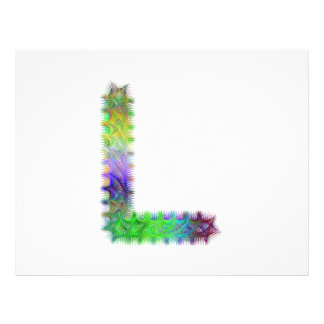 Fractal letter L monogram 21.5 Cm X 28 Cm Flyer