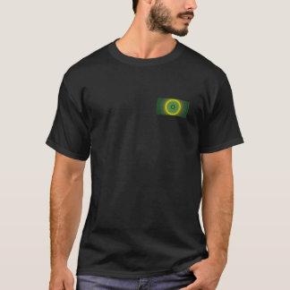 Fractal (Lime Bar) Front-Back Men's T-Shirt