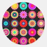 Fractal Mandalas Round Stickers