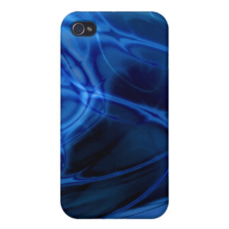 Fractal Marble Blue Cover For iPhone 4