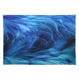 Fractal Marble Blue Placemat