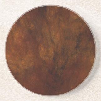 Fractal Marble Grunge Series-11---Brn coaster-1 of Coaster