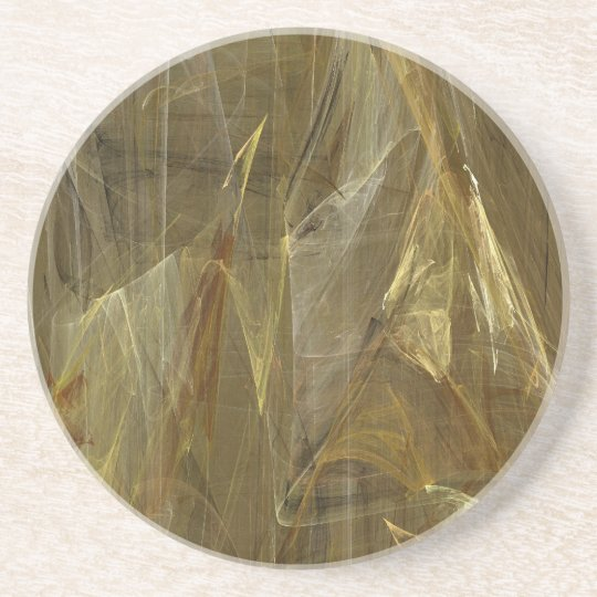Fractal Marble Grunge Series-13--Gold Coaster 1 of