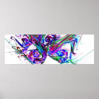 Fractal - Mardi Gras Mask Posters