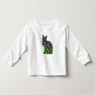 Fractal Maze Yellow Green Magenta Cat Toddler T-Shirt