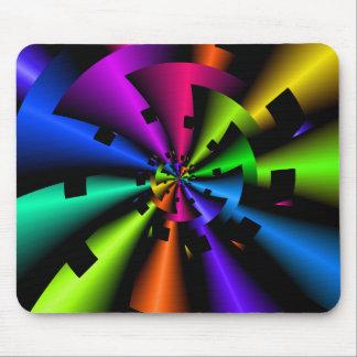 Fractal Metallic Rainbow Mouse Mat