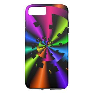 Fractal Metallic Rainbow Spiral iPhone 8 Plus/7 Plus Case