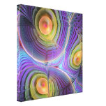 Fractal Movement, Artistic abstract Wrapped Canvas