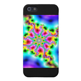 fractal multicoloured effects iPhone 5/5S covers
