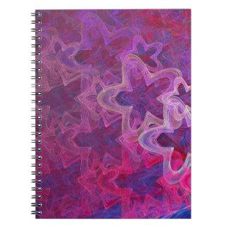 Fractal Neon Stars Notebook