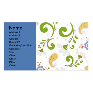 Fractal of Flowers Blue Pack Of Standard Business Cards
