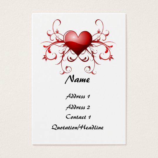 Fractal of heart - Customised Business Card