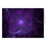 Fractal of Hope in Purple Greeting Card