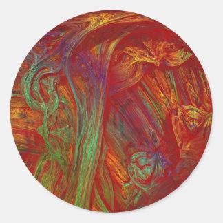 Fractal oils classic round sticker