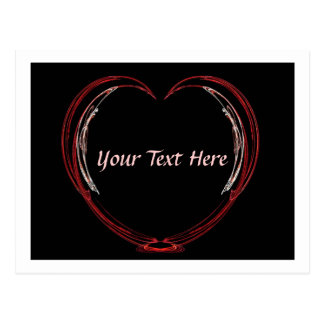 Fractal Open Heart Valentine Card Postcard