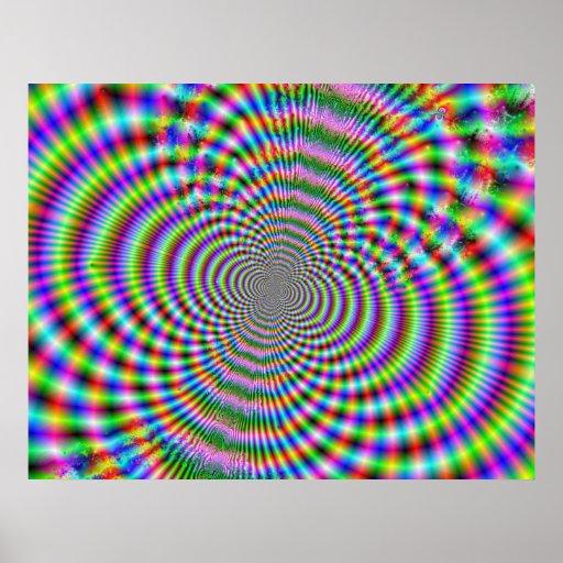 Fractal Optical Illusion 2 Poster