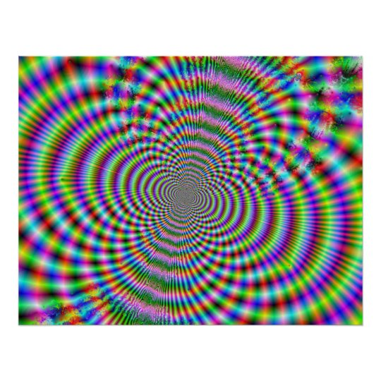 Fractal Optical Illusion 2 Poster