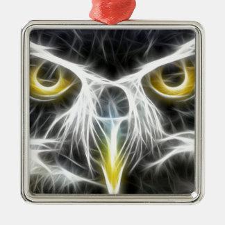 fractal owl design christmas ornament