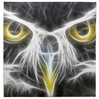 fractal owl design napkin