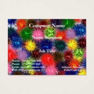 Fractal Paintballs Chubby Business Card