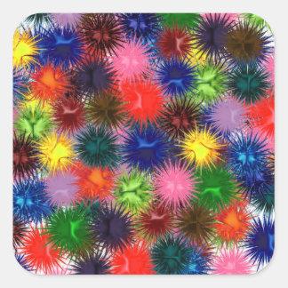 Fractal Paintballs Square Sticker
