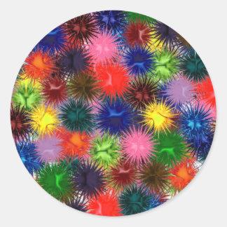 Fractal Paintballs Sticker
