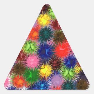 Fractal Paintballs Triangle Sticker