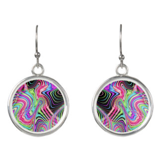 Fractal Pastel Swirls Earrings