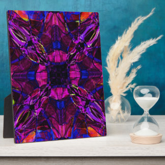 Fractal Pattern in Purple Plaque